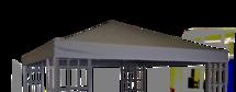 Paviljoendak Royal grijs, voor art 42431 waterafstotend