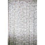 Deurgordijn chenille grijs/wit 60x185cm, 15streng