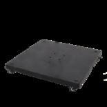 Granietplaat Polish op 4 wielen, 90kg zwart, afstand gaten diagonaal 16cm
