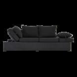 Loungebank Roma Black 210x80x66cm