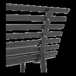 Parkbank grijs 150cm
