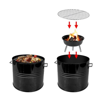 Barrel BBQ XL houtskoolbarbecue