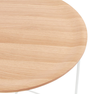 Salontafel MAREA Naturel - Wit