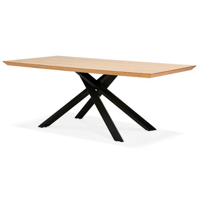 Eettafel ROYALTY Naturel-Zwart