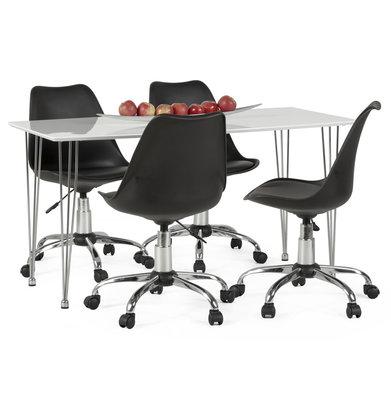 Bureaustoel EDEA Zwart-Zwart