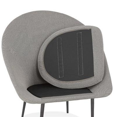 Design Stoel PARABOL Lichtgrijs-Zwart