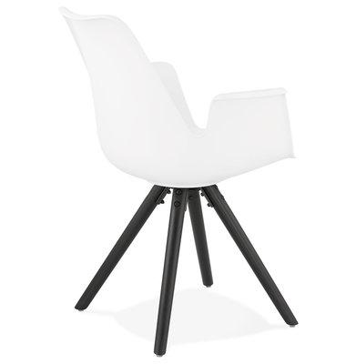 Design Stoel SKANOR Wit-Zwart