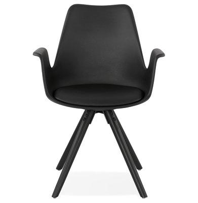 Design Stoel SKANOR Zwart-Zwart