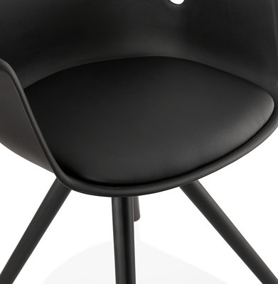 Design Stoel KOKLIKO Zwart-Zwart