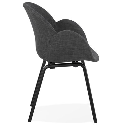 Design Stoel ELEGANS Donkergrijs-Zwart