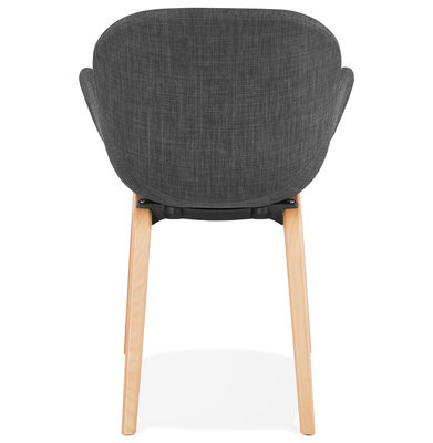 Design Stoel ELEGANS Donkergrijs-Naturel