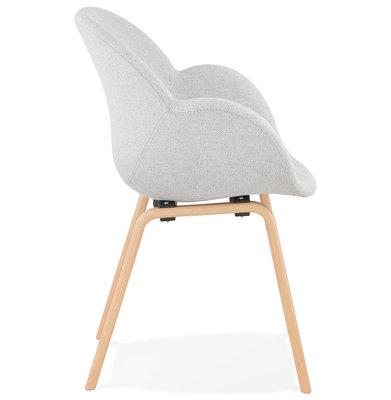 Design Stoel ELEGANS Lichtgrijs-Naturel