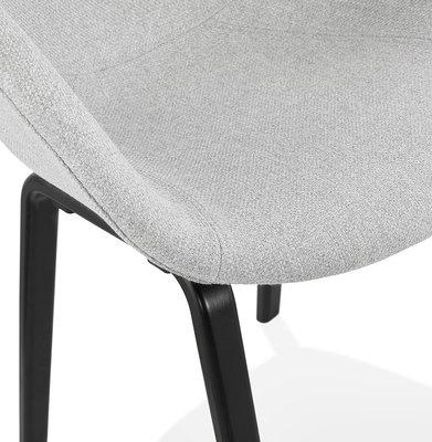 Design Stoel ELEGANS Lichtgrijs-Zwart