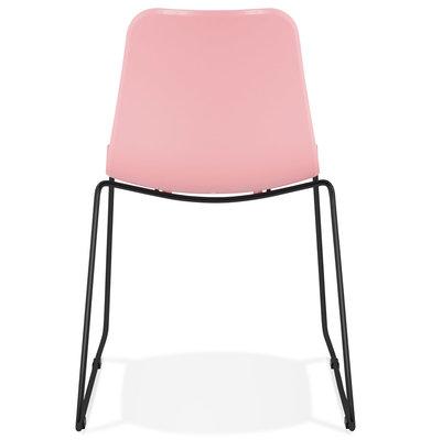 Eetkamerstoel BEE Roze-Zwart