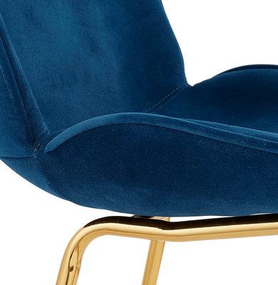 Eetkamerstoel AGATH Blauw-Goud