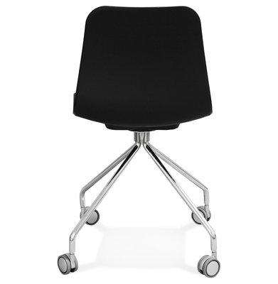 Bureaustoel RULLE Zwart-Chroom