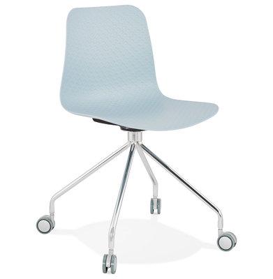 Bureaustoel RULLE Blauw-Chroom