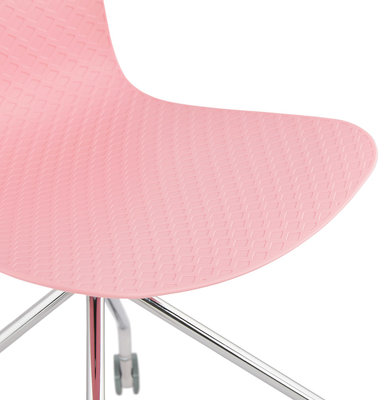 Bureaustoel RULLE Roze-Chroom