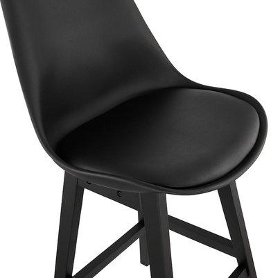 Barkruk APRIL Zwart-Zwart