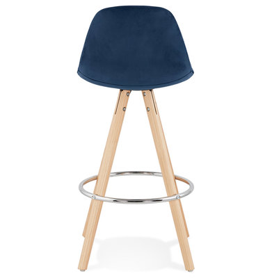 Barkruk FRANKY MINI 65 Blauw-Naturel