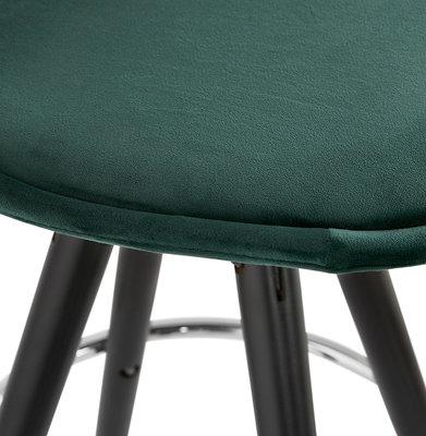 Barkruk FRANKY Groen-Zwart