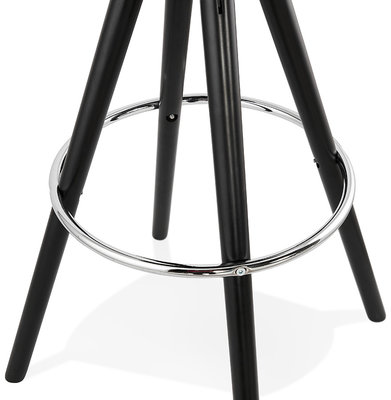 Barkruk AGOUTI MINI 65 Donkergrijs-Zwart