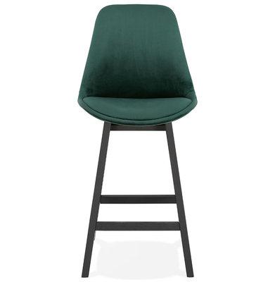 Barkruk BASIL MINI Groen-Zwart