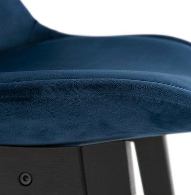 Barkruk BASIL MINI Blauw-Zwart