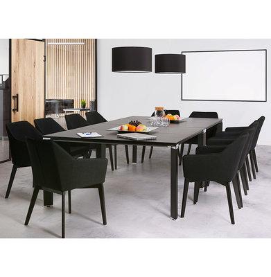 Bureau-Vergadertafel EFYRA Zwart 140,3x140cm