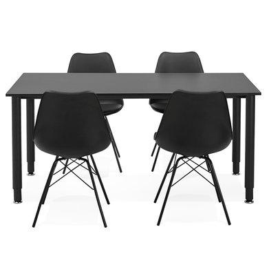 Bureau-Vergadertafel BURO Zwart-Zwart 160x80cm