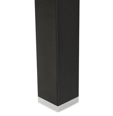 Bureau-Vergadertafel EFYRA Walnoot-Zwart 140x140cm