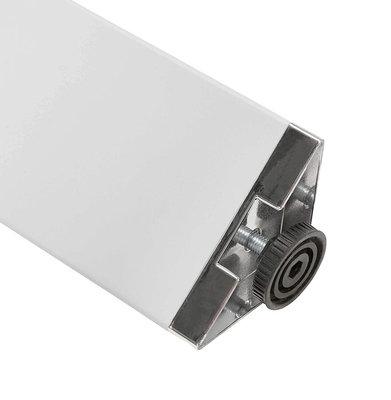 Bureau-Vergadertafel EFYRA Walnoot-Wit 160x160cm