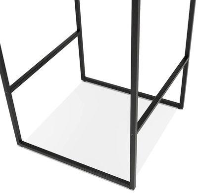 Bartafel MILLIE Wit-Zwart 60x60x102cm
