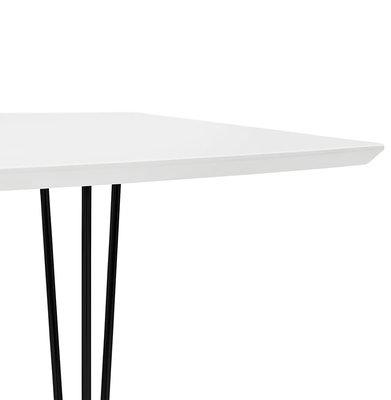 Eettafel DIAMANTO Wit-Zwart (170-270)x100x73 cm