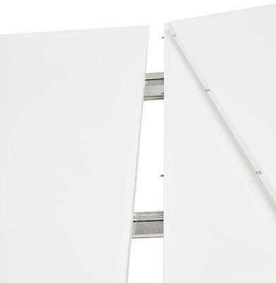 Eettafel DIAMANTO Wit-Chroom (170-270)x100x73 cm