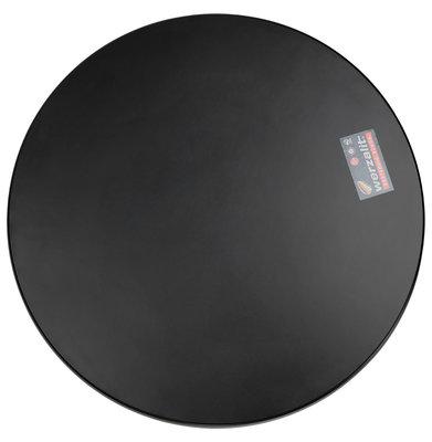 Tafelblad HORECA Rond Zwart 70x2,6cm
