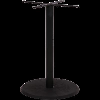 tafelonderstel aluminium, ronde polystone voet zwart