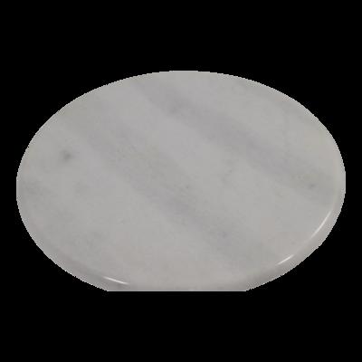 Bijzettafel marmer wit Ø30x40cm