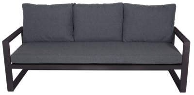 Loungebank Pina Colada Negro 209x80cm
