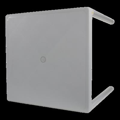 Tafel Bella grijs 70x70cm