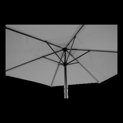 Parasol Gemini licht grijs Ø3mtr