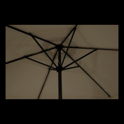 Parasol Gemini taupe Ø3mtr