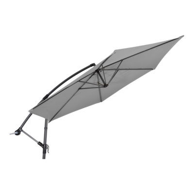 Zweefparasol Gemini grijs Ø3mtr