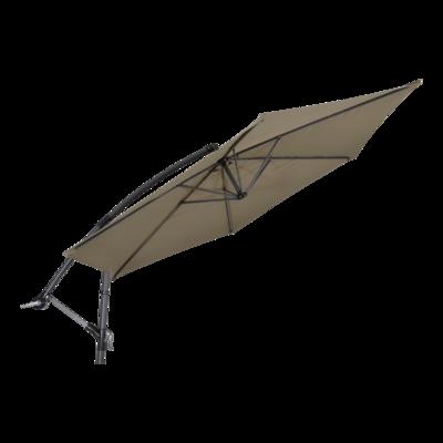 Zweefparasol Gemini taupe Ø3mtr