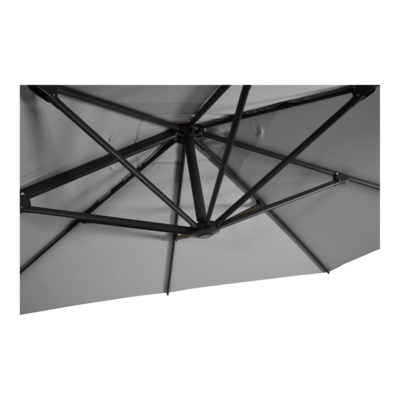Zweefparasol Libra grijs 2,5x2,5mtr