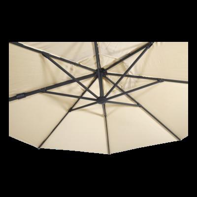 Zweefparasol VirgoFlex ecru Ø3,5mtr