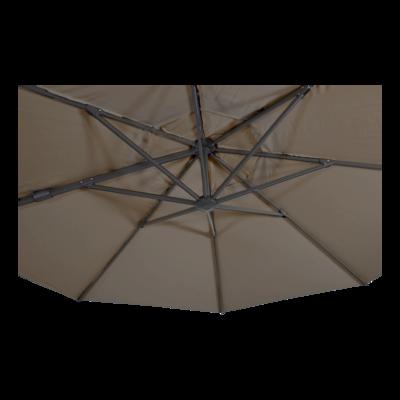 Zweefparasol VirgoFlex taupe Ø3,5mtr