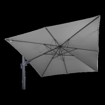 Zweefparasol VirgoFlex grijs 3x3mtr