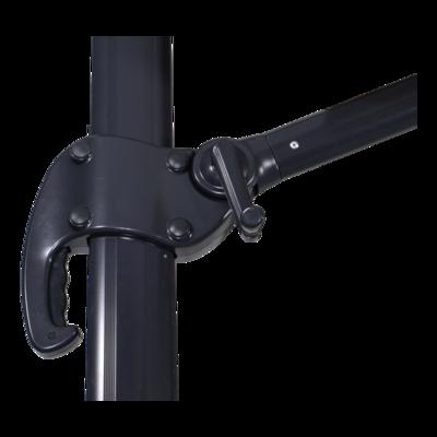 Zweefparasol Scorpio grijs 3x3mtr