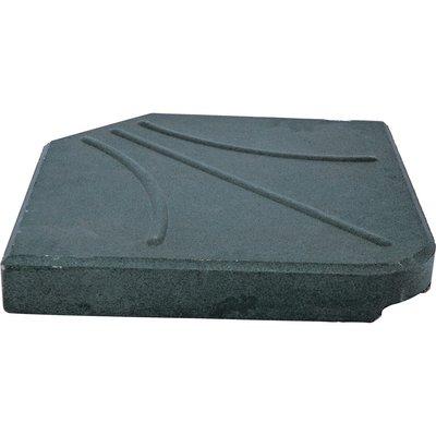 Betonplaat vierkant voor zweefparasol 25kg zwart